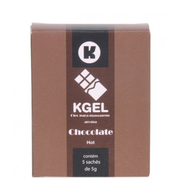 KGEL HOT CHOCOLATE 5ML - CAIXA COM 5 SACHES