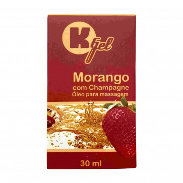 KGEL HOT MORANGO COM CHAMPAGNE 30ML