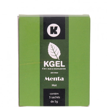 KGEL HOT MENTA 5ML - CAIXA COM 5 SACHES