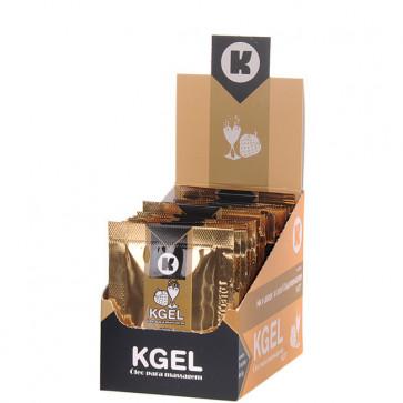 KGEL HOT MORANGO COM CHAMPAGNE 5ML - CAIXA COM 25 SACHES