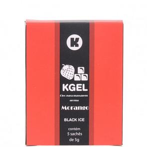 KGEL ICE MORANGO 5ML - CAIXA COM 5 SACHES